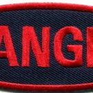 Danger sign signal warning caution alert applique iron-on badge patch new S-791
