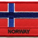 Flag of Norway Norwegian Scandinavian Europe applique iron-on patch S-934