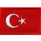 Flag of Turkey Turkish embroidered applique iron-on patch Medium S-643