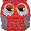 Owl bird of prey hoot animal wildlife applique iron-on patch new S-799