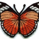 Butterfly hippie orange applique iron-on patch S-157
