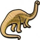 Brontosaurus Jurassic dinosaur lizard kids fun sew applique iron-on patch S-1003