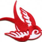 Bird tattoo swallow dove swiftlet sparrow biker applique iron-on patch new S-969