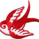 Bird tattoo swallow dove swiftlet sparrow biker applique iron-on patch new S-970