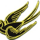 Bird tattoo swallow dove swiftlet sparrow biker applique iron-on patch new S-569