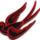Bird tattoo swallow dove swiftlet sparrow biker applique iron-on patch new S-565