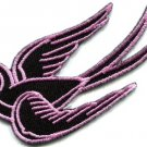 Bird tattoo swallow dove swiftlet sparrow biker applique iron-on patch new S-566