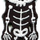 Skull skeleton goth punk emo horror biker boho applique iron-on patch new S-664