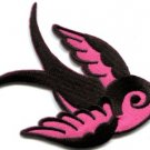 Bird tattoo swallow dove swiftlet sparrow applique iron-on patch new Small S-594