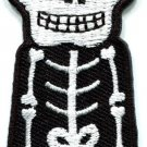 Skull skeleton goth punk emo horror biker applique iron-on patch new S-262