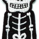 Skull skeleton goth punk emo horror biker applique iron-on patch new S-262