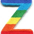 Letter Z rainbow english gay lesbian LGBT alphabet applique iron-on patch S-933