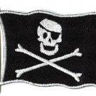 Jolly Roger skull & crossbones flag biker retro applique iron-on patch S-1012
