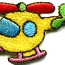 Helicopter chopper copter kids fun sew sewing applique iron-on patch new S-468