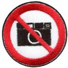No Cameras pictures photos sign symbol warning applique iron-on patch Small S646