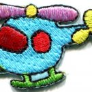 Helicopter chopper copter kids fun sew sewing applique iron-on patch new S-465
