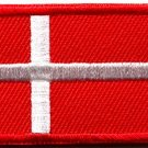 Flag of Denmark Danish Danes europe applique iron-on patch new Small S-767