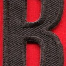 Letter B english alphabet language school applique iron-on patch new S-874