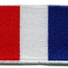 Flag of France French applique iron-on patch med S-98
