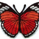 Butterfly hippie red embroidered iron-on patch S-158
