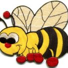 Honeybee honey bee insect fun retro sew sewing applique iron-on patch new S-419