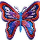 Butterfly hippie weed applique iron-on patch S-179