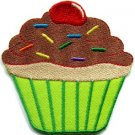 Cupcake retro disco fun applique iron-on patch S-204