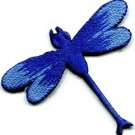 Dragonfly dragon fly insect fun retro sew sewing applique iron-on patch S-589