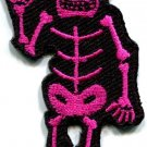 Skull skeleton goth horror applique iron-on patch FREE SHIP, NO LIMIT! S-264