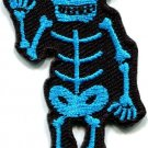 Skull skeleton goth horror psycho rock metal applique iron-on patch new S-265
