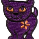 Kitty cat kitten retro applique iron-on patch new S-211