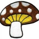 Mushroom retro 70's love applique iron-on patch S-79