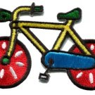 Bicycle retro bike 70s applique iron-on patch new S-125