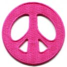 Peace sign hippie retro applique iron-on patch new S-20