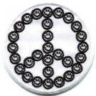 Smiley face peace sign hippie 70s iron-on patch S-25