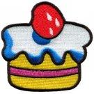 Cupcake retro disco 70s party boho fun sew cake applique iron-on patch new S-197