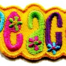 Love peace boho hippie flower power retro weed applique iron-on patch new S-33