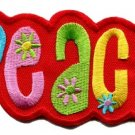 Peace sign hippie applique iron-on patch small S-31