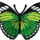 Butterfly hippie green applique iron-on patch new S-163