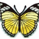 Butterfly hippie yellow embroidered iron-on patch S-161