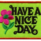 Have a Nice Day retro hippie groovy iron-on patch S-117
