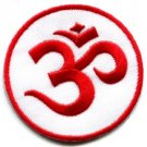 Aum om infinity hindu hindi hinduism yoga indian applique iron-on patch new S-4