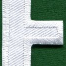 Letter E english alphabet language school applique iron-on patch new S-853