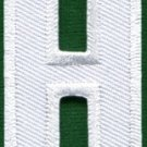 Letter H english alphabet language school applique iron-on patch new S-854
