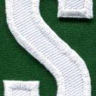 Letter S english alphabet language school applique iron-on patch new S-864