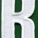 Letter R english alphabet language school applique iron-on patch new S-872
