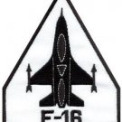 F-16 fighting falcon USAF air force jet aircraft applique iron-on patch S-689