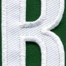 Letter B english alphabet language school applique iron-on patch new S-848