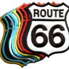 Lot of 8 Route 66 retro muscle cars 60s americana USA appliques iron-on patches