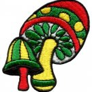 Mushroom boho 70s hippie retro love peace weed pot applique iron-on patch S-80